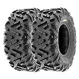 SunF 22x10-10 22x10x10 ATV UTV Tires 6 PR Tubeless A051 POWER II [Set of 2]