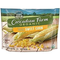 Cascadian Farm Organic Sweet Corn, 16oz Bag (Frozen), Organically Farmed Frozen Vegetables, Non-GMO