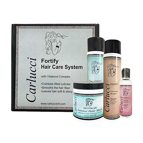 Carlucci Fortifying Hair Care System Kit For Normal, Dry, Color-Treated Hair
