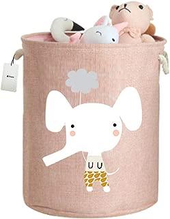 Fieans Kinder Aufbewahrungsbox Niedliche Tier Spielzeugbox Faltbare Stoff Aufbewahrungskorb f/ür Kinderzimmer Schrank Regal Blau Elefant
