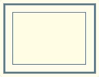 优质纸张! *蓝压花边证书,21.59 cm x 27.94 cm,15 件 (20103774)