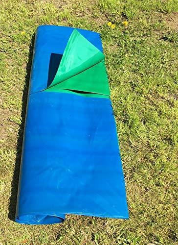 eKudera.com 0,4 mm PE TEICHFOLIE SCHWIMMTEICHFOLIE BREITE: 6 ODER 8 M (2 Euro fur 1 m2) (6 m breit)