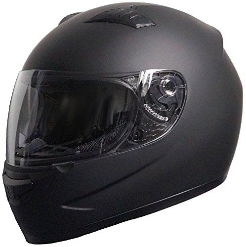 RALLOX Helmets Integralhelm 051-1 schwarz/matt Rallox Motorrad Roller Sturz Helm (XS, S, M, L, XL) Größe S