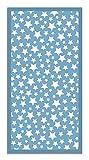 Panorama Alfombra Vinílica Estrellas Color Azul 120 x 160 cm - Alfombra Cocina Vinilo - Alfombra Salón Antideslizante, Antihongos e Ignífuga - Alfombras Grandes - Alfombras PVC