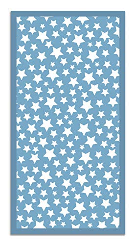 Panorama Alfombra Vinílica Estrellas Color Azul 40 x 80 cm - Alfombra Cocina Vinilo - Alfombra Salón Antideslizante, Antihongos e Ignífuga - Alfombras Grandes - Alfombras PVC