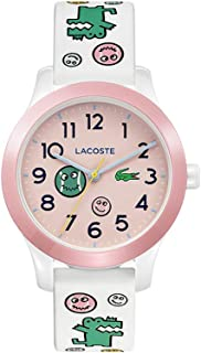 Lacoste Kids 12.12 Quartz Watch with Silicone Strap, White, 14 (Model: 2030031)
