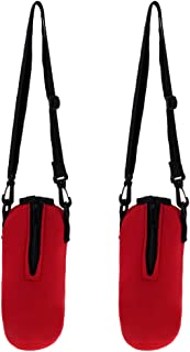 Prettyia 2pcs Sports Water Bottle Holder Sleeve Bag Carry Pouch Case Red 750ml