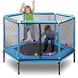 XTT Trampolin Outdoor 160 cm mit Sicherheitsnetz Kind Interaktive Unterhaltung Fitness Trampolin...