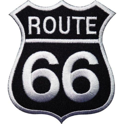 Parche bordado para planchar o coser con la ruta 66
