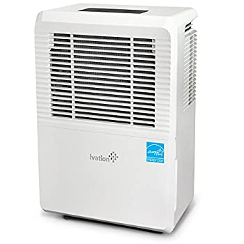 Ivation 4,500 Sq Ft Large-Capacity Energy Star Dehumidifier - Includes Humidistat Hose Connector Auto Shutoff/Restart Casters & Air Filter
