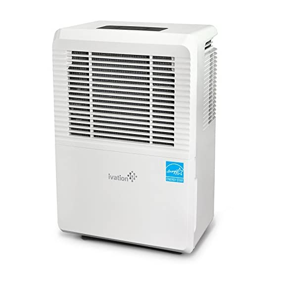 Ivation 4,500 Sq Ft Energy Star Dehumidifier with Pump - Large Capacity Compressor for Spaces Up To 4,500 Sq Ft… 1 This Compressor Dehumidifier Keeps Spaces Up to 4,500 Sq. Ft. Cool & Comfortable by Removing 50 Pints of Moisture/Day (70 Pint according to the old DOE standards, in 2019 this was classified as 70 pint and it now needs to be classified as 50 pint but IT REMOVED THE SAME MOISTURE AS THE OLD 70 PINT) Built-In Humidity Sensor - The LCD accurately displays the current humidity level in the room, enabling you to set your ideal levels for automatic moisture control Built-In 16W Pump Delivers Worry-Free Use w/Continuous Upward Water Drainage Out of Basement Window or Into Sink