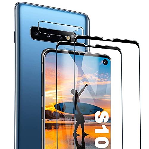 Galaxy S10 Film Protection Ecran Verre Trempé, [2 Pièces] [Dureté 9H] [Ultra Claire] [sans Bulles] Film Protecteur en Verre trempé de Haute qualité pour Samsung Galaxy S10