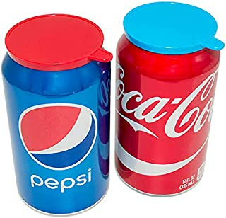 Soda Pop Tops - 12 Pack Can Lid Covers, Assorted (Red, White, Blue, Green)
