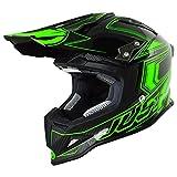 Just 1 Helmets 606320080101604 Casco J12 Carbon Fluo Verde, M