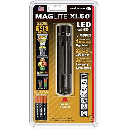 Lampe de poche Ampoule LED Mag-Lite XL50 noir