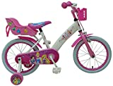 Bicicleta Infantil Niña Chica 16 Pulgadas Disney Princess Freno Delantero al Manillar y Trasero Contropedal Blanco Rosa 85% Montada
