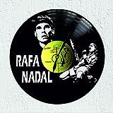 Vinywoody Reloj de Pared Disco de Vinilo Rafa Nadal tenista