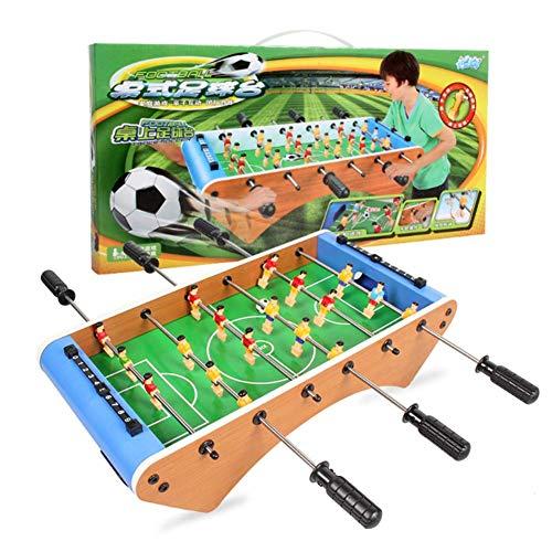 WQSFD Futbolín de Mesa Juego Mesa de Fútbol Madera con 2 Pelotas,18 Jugadores Futbolín Juego de Mesa de Madera para Niño +3 Años y Adultos