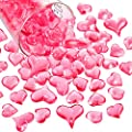 Bememo Acrylic Heart 1.1 LB Plastic Gems Table Scatter Decoration Multi-Styles Decorations Vase Filler