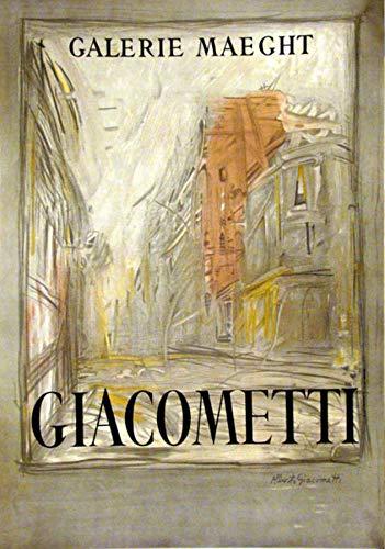 Artebonito - Alberto Giacometti Poster Lithograph Rue d'Alesia Large