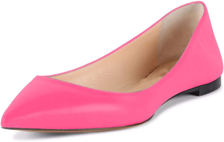 NJ Women Classic Pointy Toe Ballerina Flats Light Comfort Slip On Office Lady Casual Walking Ballet shoes