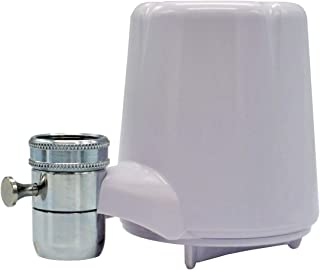 AmazonBasics AMZN-FM-15A Advanced Water Filtration | Equivalent To Culligan FM-15A, White Finish Faucet Mount Filter