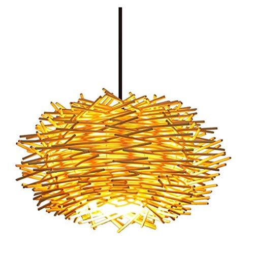 Bamboe Kroonluchter,Eetkamer Kroonluchter Rieten Weven Armaturen Lamp Hal,Creatieve Bar Loft Art Kroonluchter Woondecoratie