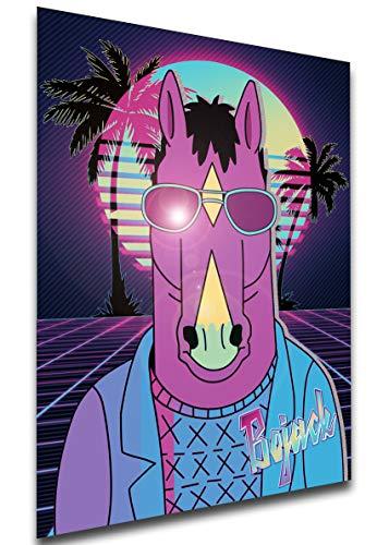 Instabuy Poster - Vaporwave 80s Style - BoJack Horseman - BoJack A3 42x30