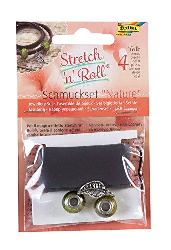 Folia toreta – Bracelet Kit de Bricolage Strech et Roll – Set Nature, Marron