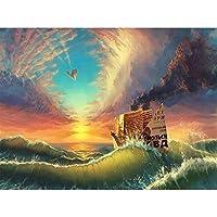 大人のための5Dダイヤモンド絵画キットナンバーキットによる風景風景ダイヤモンドアートクラフトの家の装飾でペイント、20x26インチ(M9-416)