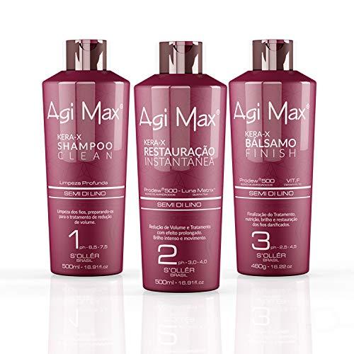 Agi Max Brazilian Keratin Hair Treatment Kit (3 Bottles)