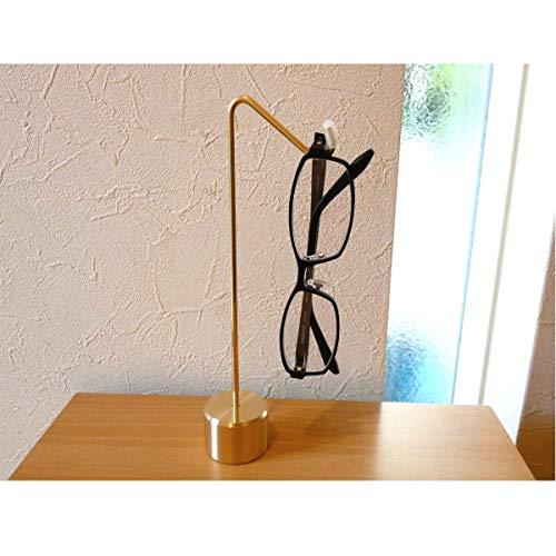【 日本製 職人直送 】 真鍮無垢 メガネスタンド メガネ置き 眼鏡掛け 眼鏡スタンド おしゃれ (土台形状 Aタイプ)