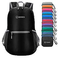 【Ultra-léger】Seulement 0,22kg, ce sac à dos pliable peut être plié comme une petite poche (taille d'un sandwich) afin d'économiser l'espace. C'est-à-dire qu'il est facile pour vous à l'utiliser et à le stocker. Pliez ce sac à dos de voyage dans votre...