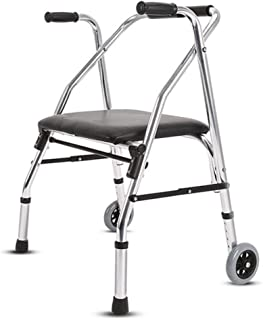 FYYONG 歩行器 高さ調整 固定型 ウォーキングフレーム、リハビリテーション椅子、折りたたみ軽量アジャスタブルウォーカー、高齢者、障害者、腕のサポートは、独立しウォークを支援 介護用品 歩行補助具 歩行補助器