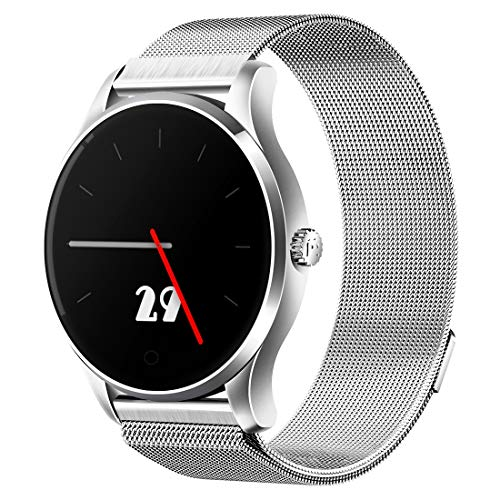 Outdoor-Smartwatch K88 1,22 Zoll Bildschirmanzeige Bluetooth Smart Watch, IP54 wasserdicht, Unterstützung für Schrittzähler/Pulsmesser/Echtzeit-Wetter/WeChat-Erinnerung, Kompatibel mit Android-