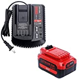 Elefly 20V Replacement for Craftsman V20 Battery and V20 Charger CMCB104