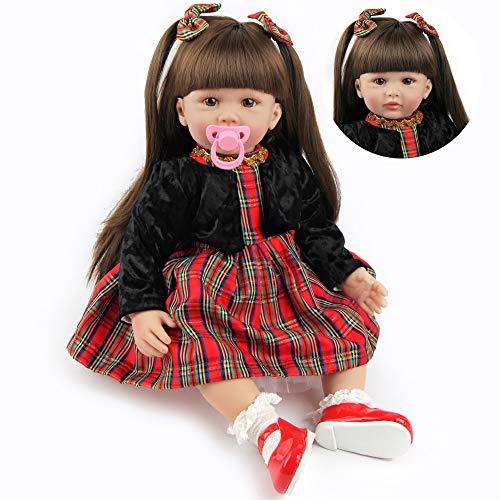 ZIYIUI Bambola Reborn Femmina 24 Pollici 60 CM Realistico Vinile Silicone Morbido Simulazione Bambino Bambole Reborn Toddler Babies Regalo di Compleanno Giocattoli Magnetico