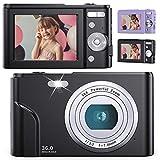 デジタルカメラ 子供用カメラ Anteam 3600万画素 HD1080P録画 16倍デジタルズーム 2.4インチIPS画面 ウェブカメラとして利用 手ぶれ補正/定時自撮り/3連写など 予備バッテリ 2 最大128GBのSDカード対応 日本語取扱説明書付き 子供や初心者など最適ギフト