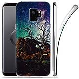 Galaxy S9 Case, ZUSLAB Nebula Pattern Design, Slim Flexible Shockproof TPU, Soft Rubber Silicone Glossy Skin Cover for Samsung Galaxy S9, 2018 (Nebula A4)