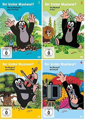 Der kleine Maulwurf - 4 DVDs (Hosen/ Zoo/ Musik/ Fotograf) 1+2+3+4 im Set - Deutsche Originalware [4 DVDs]