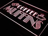 ADVPRO i111-r OPEN Coffee Shop Muffins Cafe LED看板 ネオンプレート サイン 標識s
