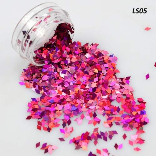 Meiyy Nageldecoratie, 1 doos met strik, diamant, glitter, glitter, mini-pailletten, voor Nail Art Decor LS05