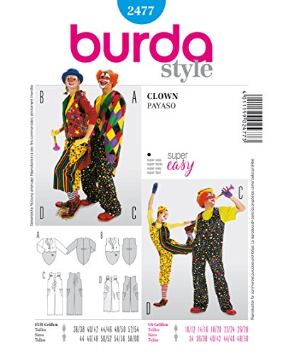Burda Schnittmuster 2477 Gr. 36-54 und 44-60