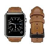 Tervoka Ersatz Armbänder für Apple Watch Armband 44mm 42mm, Wax Series iWatch Leder Uhrenarmband...