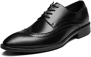 Casual shoes. Men's Business Oxford Classic Carvings British Style Retro Brogue Super Light Leisure Big Size Shoes (Color : Black, Size : 47 EU)