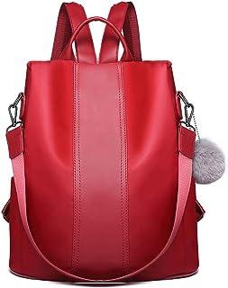Miss Lulu Damen Rucksäcke Klein Anti Diebstahl Handtasche Casual Daypack für Damen Mädchen M (Wein)