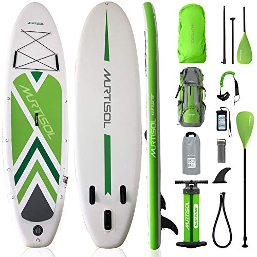 Product Image 1: Murtisol Inflatable Paddle Board Stand Up Paddle Green