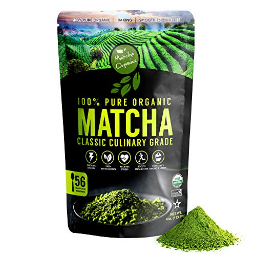 Té verde Matcha orgánico en polvo aprobado por USDA - Suplemento natural...