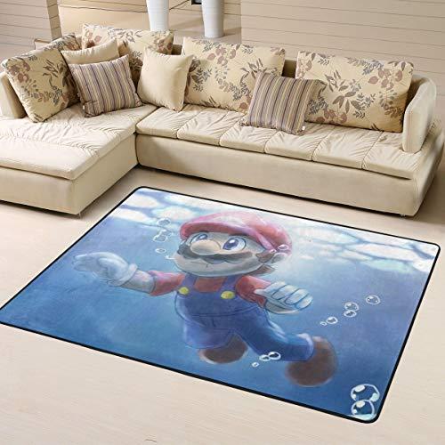 Ocsoc Mario Super weicher Teppich Wohnzimmer Schlafzimmer Küche Kinderzimmer Bequem Art Deco Polyester Teppich 160 x 122 cm