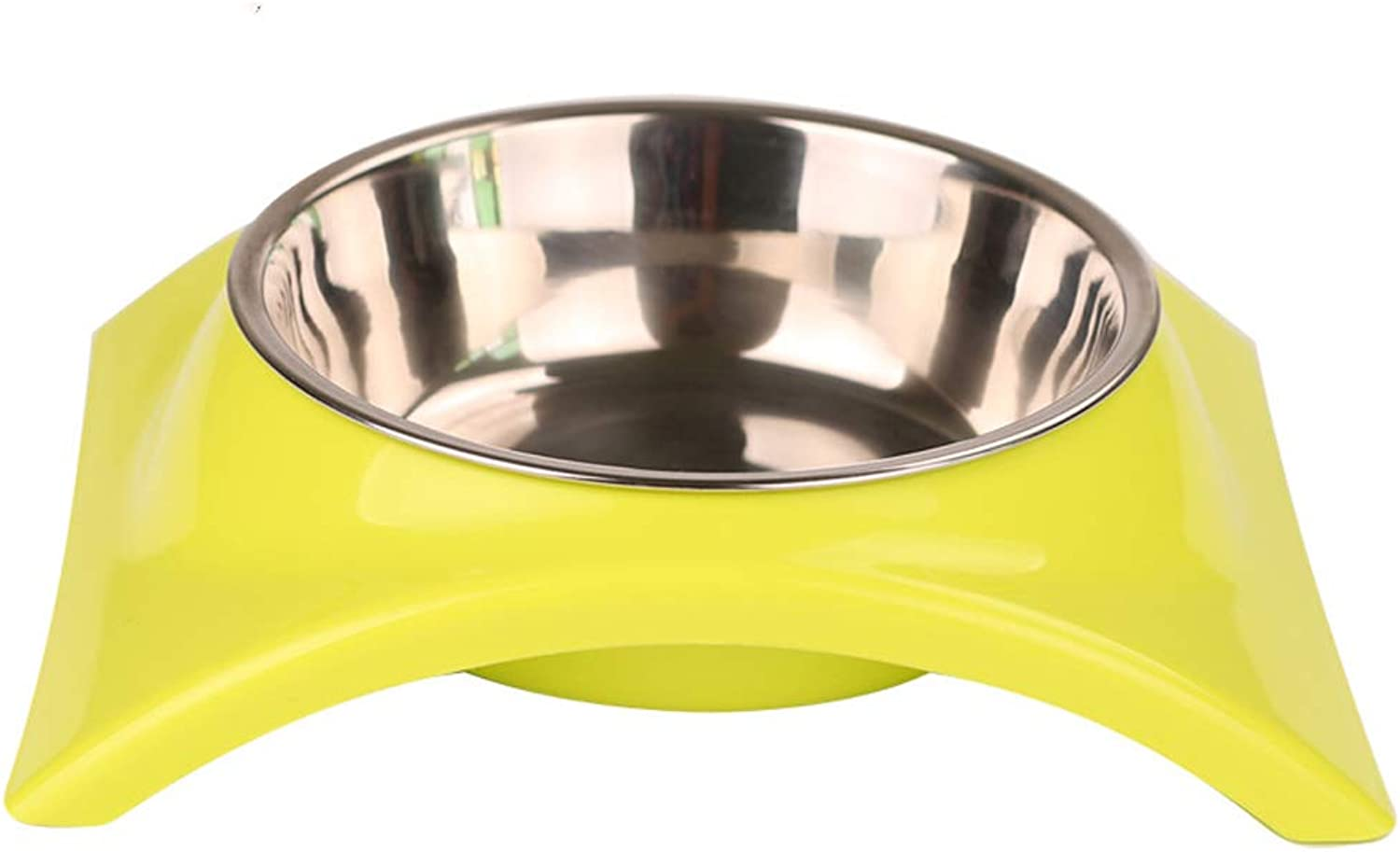NYDZDM Stainless Steel pet Double Bowl, cat Dog Food Bowl Dog Bowl cat Bowl, pet Supplies Single Bowl Dog Eating Water Dual Purpose (Size   S)